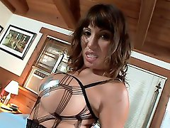 This scene opens with an intense solo tease. Ava Devine is a busty...