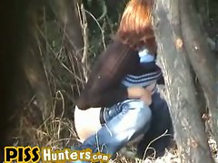 Pissing, Voyeur among trees...