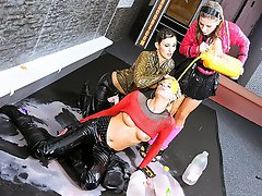 Both of these babes start having fun with Leony, letting them know...