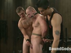 Christian Wilde and Van Darkholme use and abuse Patrick Rouge during...