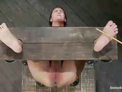 Huge titted, California former lifeguard, bound in hard metal and...