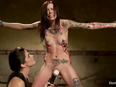 Krista shows off an impressive ability to absorb the punishment from...