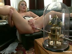 Aurora Snow tries on the machines for a genuine, sexy fucking during...