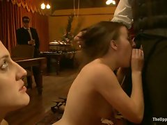 The evening turns into a raucous girl on girl wrestling match for The...
