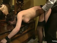 Sex slaves go to work for sadistic Masters and Mistresses...