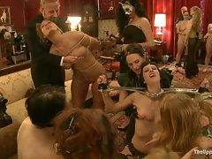 Big Tits party sex slaves serve huge breasts...