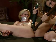 Stripper is dominated, punished, oiled up, spread wide and fucked by...