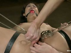 Beautiful Asian girl gets tied up and dominated with electricity!...