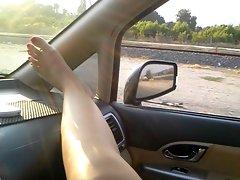 Ceren ile arabada... Aydin-izmir Yolunda...