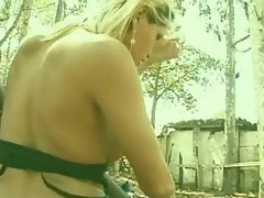 Biker fun with a blonde TS