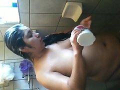 Beautiful Sexy Girl taking a shower