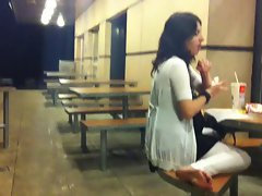 Feet caught in Mc Donald&amp,#039,s Lugano