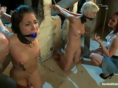 Jade Indica and Chloe Camilla are two naked slave girls