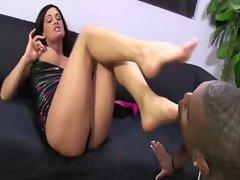 French pedi foot slut