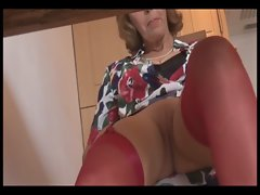 Mature secretary shows upskirt with no panties nice pussy