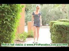 Chloe passionate blonde public flashing pussy and masturbating and posing naked outdoors