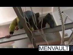 Two bear workers in a fucking break