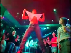 Stripper giving lapdance at party