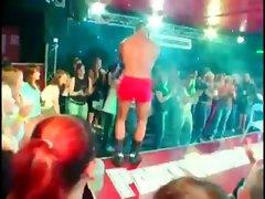 Slutty babe sucking stripper&#039_s dick