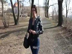 FELIX TERROR: Hot slut flashes her tits
