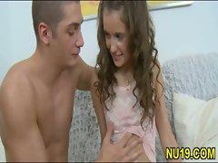 Hot teen in porn action