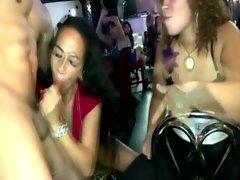 Cfnm party amateurs suck male stripper meat