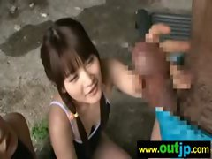 Asians Girls Get Banged In Wild Places video-19