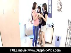 Young Lesbian Teen Babes Lick and Kiss 12