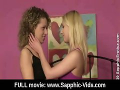 Young Lesbian Teen Babes Lick and Kiss 29