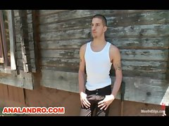 Ty Roderick is Tied up in the Woods and Receives Extreme Edging