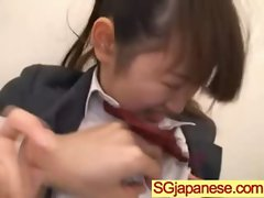 Asians Girls In School Uniforms Get Banged video-20
