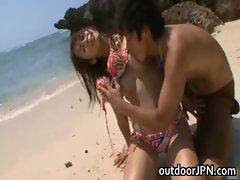 Hot asian babe Akina gets fuck