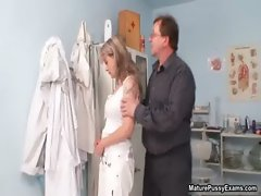 Horny mature mom gets her breasts examed