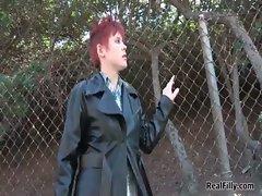Redhead girl gets seduced