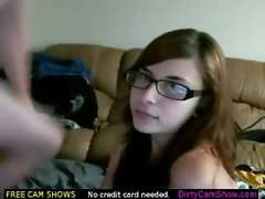 Glasses Slut Blowjob