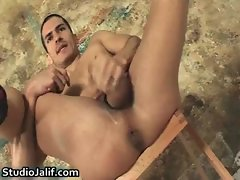 Carlos Perez jerking his massive gay sex