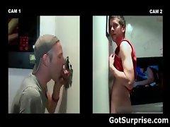 Straight man sticks his jizzster gay porn