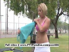 Lovely Amateur blonde girl masturbating