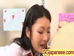 Asians Girls In School Uniforms Get Banged video-33