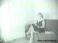 Vintage 1929 Blonde Housewife seduces salesman