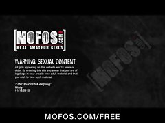 Big-boobed babe Misty Anderson strips down &amp_ masturbates in heels