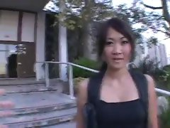 Asian coed Taya Talise goes for huge shaft