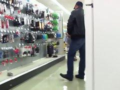 Shopping no panties... again!
