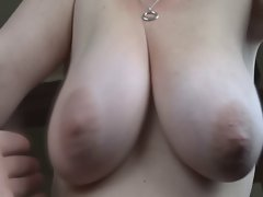 My wife's big natural breasts, groped and caressed