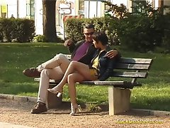 Fuck on street slutty girl gets dick oral and cunt fondled