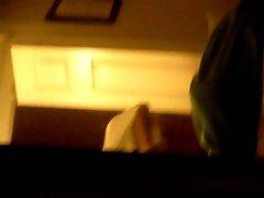College chick spied through window