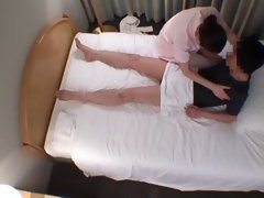 Customer gropes reluctant hotel masseuse Spycam