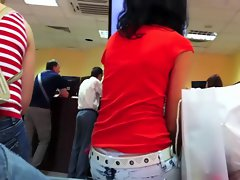 Sdruws2 - Panty thong at the bank couch