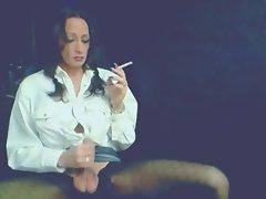 Beauteous Smokey Tgirl Caresses