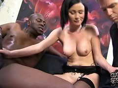Cuckold watching his whore slutty wife banged by BBC
